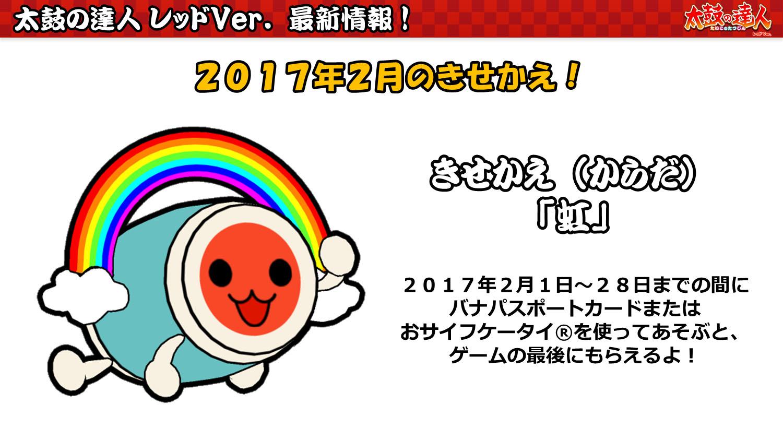 2017年2月のきせかえ(太鼓の達人 レッドVer.)